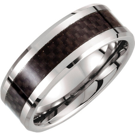 Tungsten and black carbon fiber inlay. Style stutar276asp