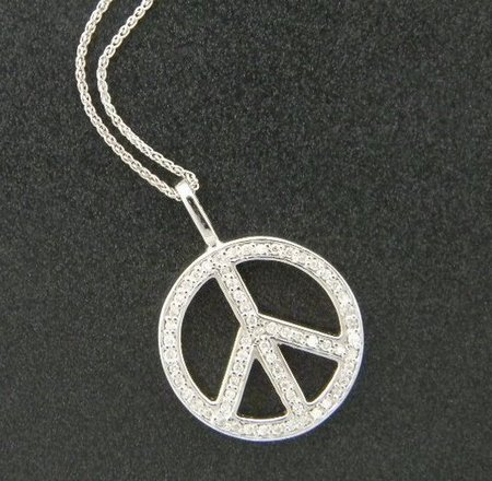 The diamond peace sign. Designed by Rick Little.