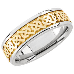 14 karat white and yellow gold Celtic design. Style stu50388asp