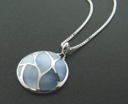 Sterling silver and blue mother of pearl