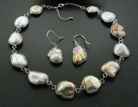 Natural color, freshwater baroque cultured pearls.