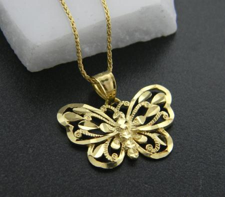14 karat yellow gold butterfly pendant on 20 inch chain. Was $550, now $330