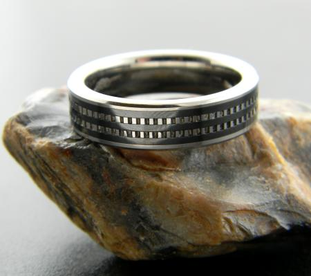 Men's tungsten and black ceramic band, size 10 (cannot be sized). Was $510, now $306