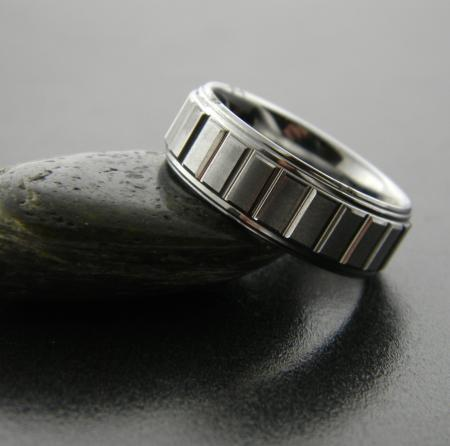 Men's grooved tungsten band, size 10 (cannot be sized). Was $420, now $252