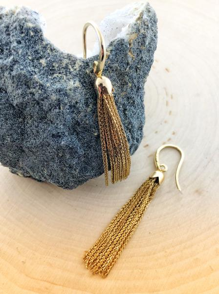 14 karat yellow gold tassel design earrings. $480.00