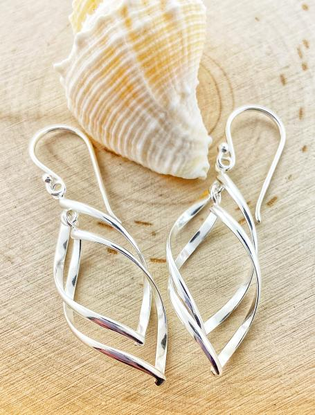 Sterling silver double marquise dangles. $75.00