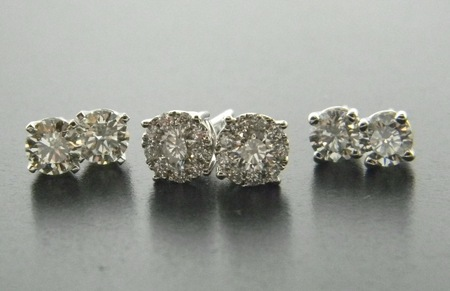 The diamond stud earring. Available in sizes ranging from .10 carat to 6.0 carats total weight.