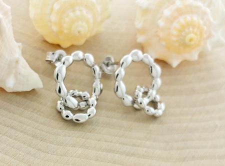 Sterling silver double circle earrings. $89.00