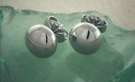 Sterling silver 7mm button studs. $35.00