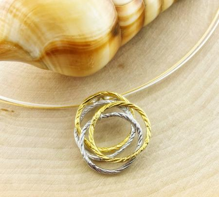 Sterling silver and yellow gold vermeil nest necklace. $285.00