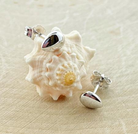 Sterling silver pebble studs. $48.00