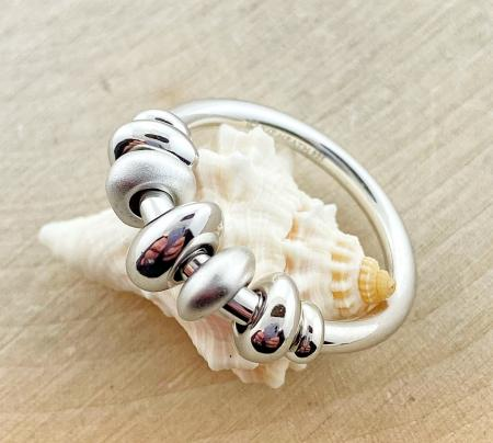 Sterling silver pebble ring. $130.00